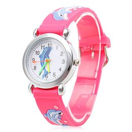 Wholesale Football Pins - Children Cartoon Watches Football Silicone Band Quartz Fashion Waterproof Watches Wristwatch 5 Pieces lot High Quality Ship Gift