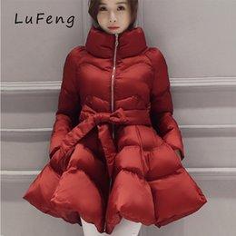 Wholesale Coat Skirt For Women - 2017 Parka Coat Bow Waist Fluffy Skirt A Warm Coat Jacket Parkas For Women Winter Women Down And Parkas 2017 Long A1-1