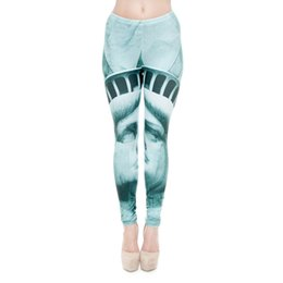 Wholesale American Liberty - Women Leggings Liberty 3D Graphic Print Girls Workout Full Length Spring Summer Autumn Skinny Stretchy Fitness Pants Yoga Trousers (J31179)