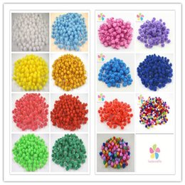Wholesale Glitter Pompoms - Wholesale-144pcs 288pcs about 10-12mm glitter pompom fur ball 22010001