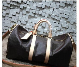 Wholesale Army Duffel Bag Green - hot Top AAAAA quality 41416 Canvas Keepall 50 with Shoulder Strap M41416 M41414 M41412 M41418handbags bag duffel bags oxidize cowhide