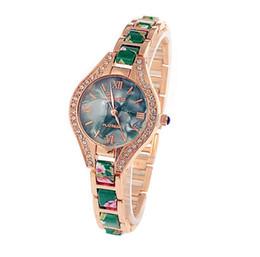 Wholesale Geneva Women S - Luxury Women 's diamond bracelet watches fashion leather leather personality bracelet table Geneva belt strip watch for women