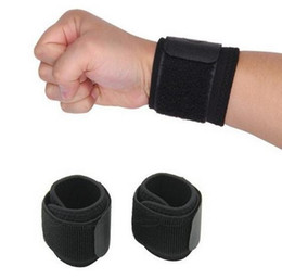 Wholesale Gym Lifting - 1 Pair Aolikes Weight Lifting Sports Wristband Gym Wrist Thumb Support Straps Wraps Bandage Fitness Training Safety Hand Bands wrist brace