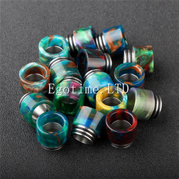 Wholesale Usa Bearings - New design Epoxy Resin drip tip Resin Wide Bore drip tips for TFV8 Atomizer Tank Kooper Primus 300W Mod & H-PRIV TC Mods Popular USA