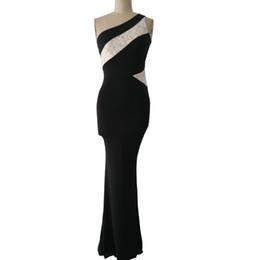Wholesale Unique Maxi Dresses - Summer Style Lace Party Dresses 2016 Elegant Fashion One Shoulder Long Maxi Dress Ladies Brand Unique Women Party Dress S2151