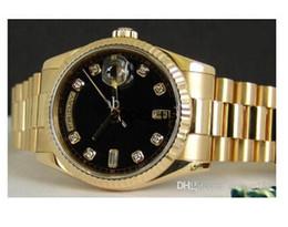 Wholesale Diamond Mens Wrist - best products Men's 18kt GOLD Day-Date PRESIDENT Black Diamond Dial - 118238 Wrist Mens Watch