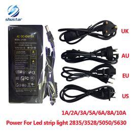 Wholesale Led Supply Transformer Dc12v 2a - LED power supply 110-240V DC12V 1A 2A 3A 5A 6A 8A 10A switching Led Strip light 5050 3528 transformer adapter lighting