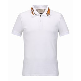 Wholesale Garter Xl - Italy Men T-shirt tee Polo High street embroidery garter Snakes Little bee printing fashion clothing Brand polo shirt