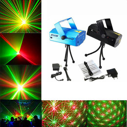 Wholesale Dj Disco Party Club Light - Mini LED Laser Stage Lights Lighting Adjustment Disco DJ Party Home Wedding Club Projector free shipping