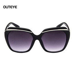Wholesale Bar Sunglasses - Wholesale-OUTEYE Fashion Large Frame Sunglasses Women Decorative Bar Trend Sunglasses Protection Eyes Female Eyewear Goggles Shades W1