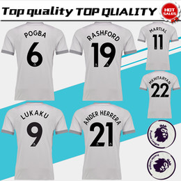 Wholesale POGBA third Soccer Jersey have Premier League patches LUKAKU rd soccer shirt RASHFORD BLIND MARTIAL Football uniforms Sales