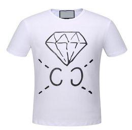 Wholesale Top Buys - Hot Buy Italia Men Diamond Printed T Shirt 2017 Summer Fashion O-Neck Short Sleeve Polo T-Shirts Mens Casual Top Tees 3XL
