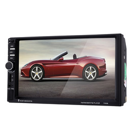 Wholesale Car Tv Remotes - 7060B 7 inch Car Audio Stereo MP5 Player Remote Control Rearview Camera FM USB MP3 MP5 1080P Car Radio Player Support CD Microphone +B