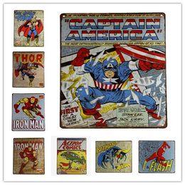 Wholesale Cross Garage - METAL TIN SIGN SUPER HEROS POSTER Vintage Decor Home Bar Pub Garage Wall Poster 20161005#