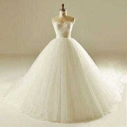 2017 Robes de mariée New Arrival Robe de mariée formelle glamour Robe de bal élégante Vestidos De Novia Blanc / Mariage / Robe de mariée rouge ? partir de fabricateur