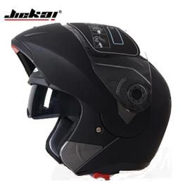 2019 sistema flip Atacado-Hot venda 7 cores Jiekai 105 flip up capacete da motocicleta com sol interior sistema de viseira dupla todos podem usar sistema flip barato