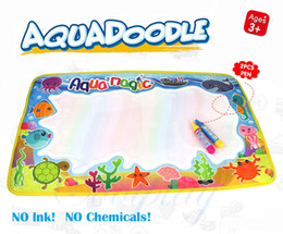Wholesale Pen Paints - Coolplay 59x36cm Multicolor Rainbow Water Drawing Mat with 2 Pen Aqua Doodle Mat Rug for Painting Xmas Gift for Kids 2107322
