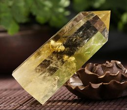 Wholesale Natural Ore - Natural topaz column specimens of original rock ore gifts home home furnishing articles n pillar feng shui energy column furnishing articles