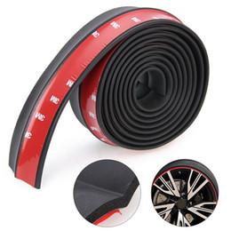 Pegatinas de labios de coche online-Mayitr Durable 2.5 M * 6 CM Universal Parachoques delantero Lip Splitter Sticker Auto Body Trim Spoiler Protector Negro