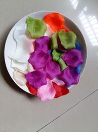 Wholesale Bridal Shower Confetti - 5000pcs Silk Rose Petals Artificial Flower Wedding Party Vase Decor Bridal Shower Favor Centerpieces Confetti 7 Colour Option