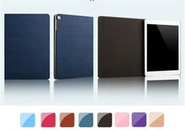 Wholesale Thin Pc China - Simple Style PU+PC Smart Wake Up Ultra Thin Protect Case Shockproof Flip Case for ipad mini2 3 4 air1 2 ipad 2 3 4 ipad pro 9.7inch