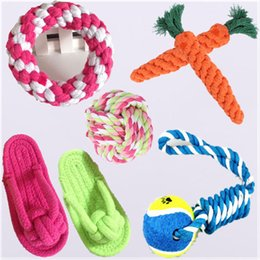 5 packed colorful pet chew toys dogu0027s chew toys cotton rope pet toy puppy dog teeth cleaning training tool for dogs training bait toys uk