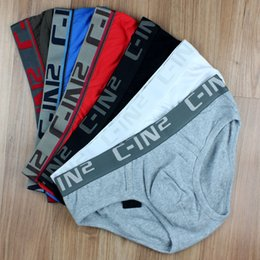 Wholesale Brief Panties Cotton - 2pcs lot C-IN2 Brand Name Sexy cotton solid men cuecas underwear underware calzoncillo briefs underpants panties man's boxershort for man