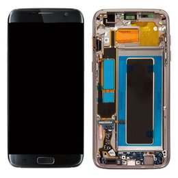 Wholesale Galaxy Screen Assembly - LCD For Samsung Galaxy S7 Edge SM-G935F G935A G935V 935T LCD Display Touch Screen Digitizer With Frame Assembly Replacement Parts