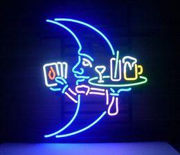 "Wholesale Neon Cocktail Glass - Blue Moon Martini Cocktail Neon Sign Beer Bar Pub Store Motel KTV Display Avize Neon Light Sign Glass Tube Custom Sign 17""X14"""