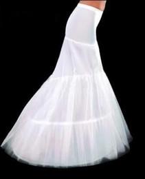 Wholesale Bridal Hoop Petticoat Fishtail - White 2-Hoop Wedding & Events Fishtail Mermaid Wedding Dress Bridal Petticoat Crinoline petticoats Underskirt Bridal Accessories