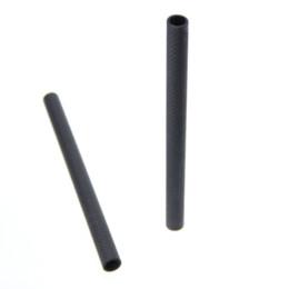 Wholesale Photo Connector - 15mm Carbon Fiber Rods 20cm Length fr DSLR Camera Baseplate Follow Focus Photography Studio Photo Accessories Connectors C0912