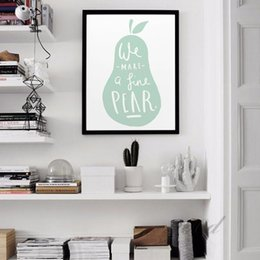 Wholesale Child Cartoon Picture Frame Paintings - Cartoon Pear Canvas Art Print Poster, Wall Pictures For child Room Home Decoration Print On Canvas, Frame not include
