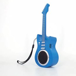 Wholesale Wireless Interface Cards - High-quality New C330 mini guitar speaker wireless Bluetooth speaker stereo card U disk Subwoofer with usb sd card interface for smart phone