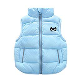 Wholesale Down Feather Kids Coat - 9M-3T Years kids vest Baby girl boy waistcoat kids boys 4 Solid Color Boy Winter Vest Down Feather Warm Children Vest Clothes