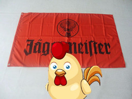 Wholesale File Printing - jagermeister flag , 100% polyester 90*150cm,Digital Printing can custom print file,90X150CM size,100% polyester