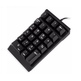 Wholesale Mini Numeric Keypad - Numeric Keyboard 22 Keys USB Mini Keypad Digital Keyboard Numpad For iMac MacBook Air Pro Laptop Notebook Desktop Computer PC