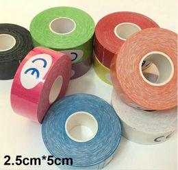 Wholesale Adhesive Elastic Bandage - 11colors 2.5CM*5M 5CM*5M Muscle Tape Kinesio Elbow Knee Kneepads Elastic Bandage Taping Knee Tactical Pad Kinesiology Adhesive Tape 200pcs