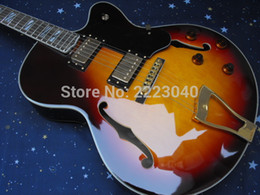 Wholesale Custom Guitars China - Wholesale-Chibson sunset color L5 Jazz electric guitar with top quality,China Custom shop hot selling,Free shipping