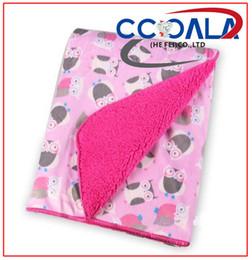 "Wholesale Receiving Fleece Blankets - Super Soft Microfiber Kintted Newborn Blankets High Quality With Cut Designs ,Owl Pattern Fleece Receiving Throw 30""x40"""