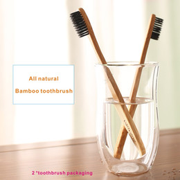 Wholesale Natural Toothbrushes - 2*Bamboo toothbrush, pure natural bamboo, special bamboo fiber fiber toothbrush head, to protect oral health, whitening teeth .