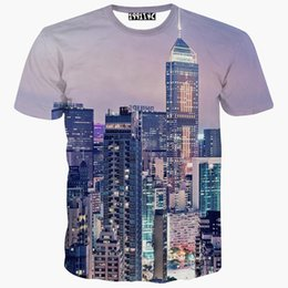 Wholesale Cool Cities - tshirt America Empire State Building printed 3d t shirt Men's short sleeve casual t-shirt cool summer tops tees city t shirt