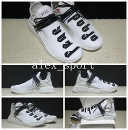 Wholesale Nipple Out - With Double Box+Lace+Bag Fear of God x NMD Pharrell Williams Human Race Real Boost Nipples PW Fashion Runner Casual Running Shoes Size 36-48