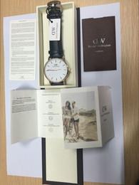 vestido de esqueleto azul Desconto 2017 top Daniel mulheres homens moda estilo de couro 40 / 36mm rosa mens relógios de ouro montre femme relojes