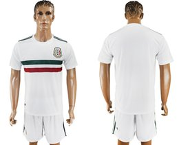 Wholesale Mexico Away Jerseys Wholesale - 2017 18 Mexico Soccer Jerseys Short included CHICHARITO away white Soccer Set G.DOS SANTOS R.MARQUEZ thailand quality Mexico soccer Jersey