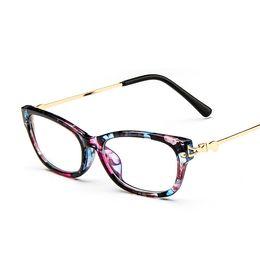 Wholesale Metal Legs Wholesale - Wholesale- 2016 Grade Vintage Metal Legs clear lens Computer Eye Glasses for women Female Lady Eyeglasses spectacle frame Eyewear Frames