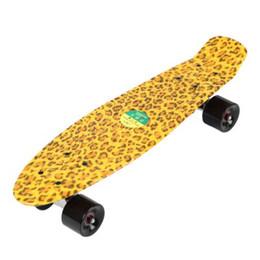 Wholesale Banana Boards - 22 Inches Skateboard Four-wheel Skate Board Long Kick-tail Single Rocker Mini Cruiser Fish Banana Long Board 3 Colors+B