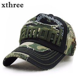 swag hats Promo Codes - Xthree unisex camouflage baseball cap swag cap Casual Outdoor Sport snapback Hat for men Cap women gorra casquette Wholesale
