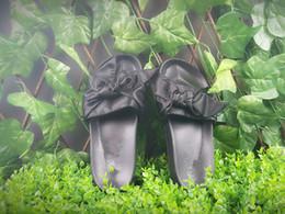 Deutschland 2017 heißer verkauf senden mit box und staubbeutel rihanna x fünfzig bandana rutschen pelz hausschuhe sandalen größe 36-41 supplier hot pink bandana Versorgung