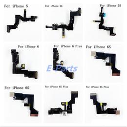Telecamera anteriore online-Fotocamera frontale per iPhone 5 5 s 5c 6 6 s 6 sf anteriore fotocamera sensore di prossimità sensore di luce flex cavo a nastro spedizione gratuita