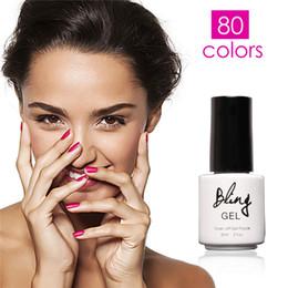 Wholesale Green Nail Polishes - Wholesale-1Pcs Summer New Bling 80 Fashion Colors UV Gel Nail Polish 6ML Nail Gel by FOCALLURE